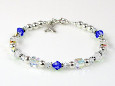 ALS Awareness Bracelet - Swarovski Crystal & Sterling Silver (Everyday)