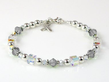 Parkinson's Disease Awareness Bracelet - Swarovski Crystal & Sterling Silver (Everyday)