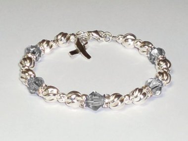 Parkinson's Disease Awareness Bracelet - Swarovski Crystal & Sterling Silver (Twist)