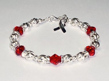 Epidermolysis Bullosa Awareness Bracelet - Swarovski Crystal & Sterling Silver (Twist)