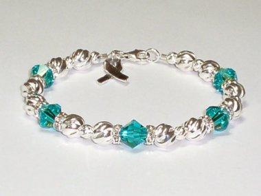 Ovarian Cancer Bracelets Wristbands Keychains By Aqua Moon Keepsakes