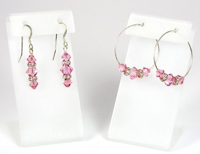 Swarovski Crystal & Sterling Silver Earrings