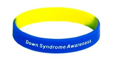 Down Syndrome Awareness Wristband - Blue & Yellow