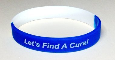 ALS Awareness Wristband - Blue & White