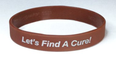 Colorectal/Colon Cancer Awareness Wristband - Brown