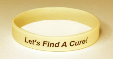 Spinal Cord Injury & Paralysis Awareness Wristband - Cream