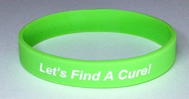 Lymphoma Awareness Wristband - Lime Green