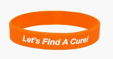 Leukemia Awareness Wristband - Orange