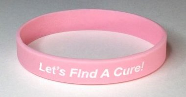 Breast Cancer Awareness Wristband - Pink