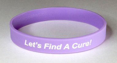 Thyroid Cancer Awareness Wristband - Purple