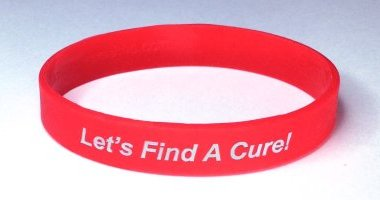 Lymphoma Awareness Wristband - Red