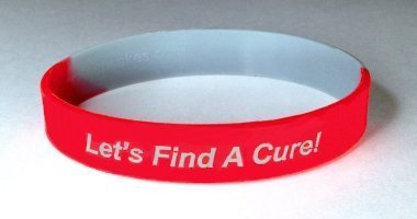 Stroke Awareness Wristband - Red & Gray