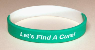 Cervical Cancer Awareness Wristband - Teal & White