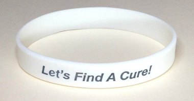 Scoliosis Awareness Wristband - White