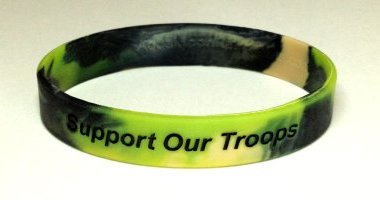 Support Our Troops Awareness Wristband - Camouflage